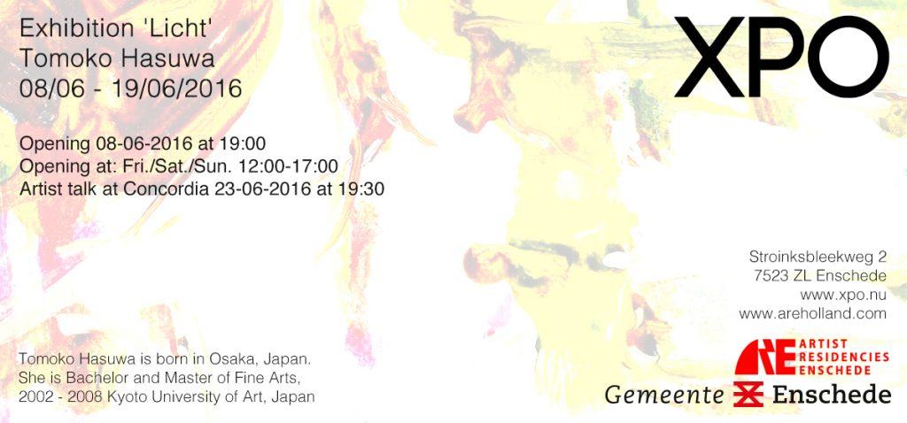 Achterzijde uitnodiging Tomoko Hasuwa