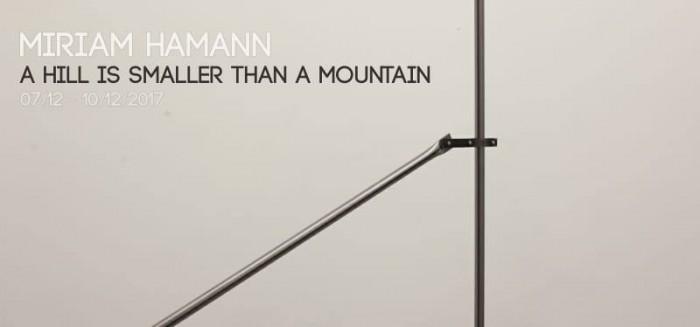Canceled – A hill is smaller than a mountain – Miriam Hamann