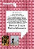 Lezing residency gasten/Artist talk of the residency guests Pablo Mercado en Dorian Braun